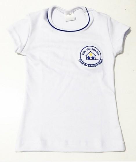 Camiseta Branca Promocional de Algodão Vila Anastácio - Camiseta Promocional para Empresa