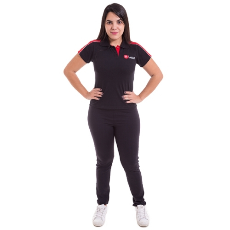 Camiseta Personalizada para Empresa de Malha Vila Romana - Camiseta Personalizada Bordada