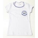 camiseta branca promocional de algodão Avenida Tiradentes