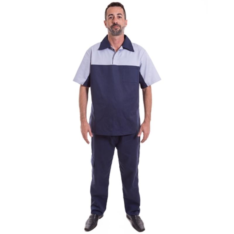 Uniforme Profissional Masculino Vila Leopoldina - Uniforme Profissional Camisa